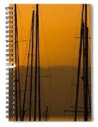 Masts At Dawn Spiral Notebook