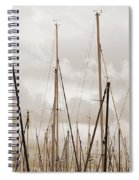 Masts In Sepia Spiral Notebook