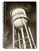 Matador Texas Water Tower Spiral Notebook