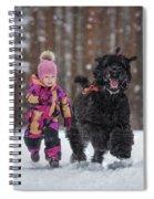 Matching Pompoms Spiral Notebook