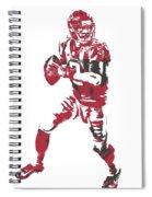 Matt Ryan Atlanta Falcons Pixel Art 5 Spiral Notebook