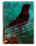 Matthew Six Verse Twenty Six Spiral Notebook