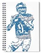 Matthew Stafford Detroit Lions Pixel Art 5 Spiral Notebook