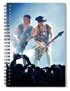 Matthias Jabs And Rudolf Schenker Shredding Spiral Notebook