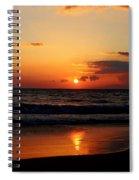 Maui Beach At Sunset Spiral Notebook