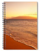 Maui, Hazy Orange Sunset Spiral Notebook