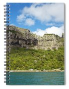 Maupiti Island Cliff Spiral Notebook