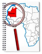 Mauritania Under A Magnifying Glass Spiral Notebook