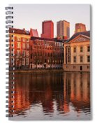 Mauritshuis And Hofvijver At Golden Hour - The Hague Spiral Notebook