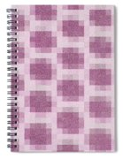 Mauve Plaid Pattern Spiral Notebook