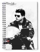 Maverick, Top Gun, Kawasaki Ninja 900, F - 14a Tom Cat, Tom Cruise Spiral Notebook