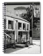 Max's Diner New Jersey Black And White Spiral Notebook