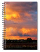 May Day Silo Sunset Spiral Notebook