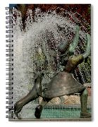 May Pole Girl And Puppy Spiral Notebook
