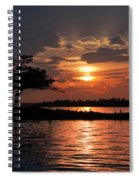May Sunset At Detroit Point Spiral Notebook