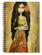 Maya And The Cat Spiral Notebook