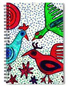 Mayan Birds Spiral Notebook