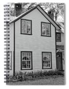 Mayors House Black And White Spiral Notebook