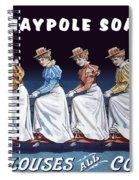Maypole Soap Retro Vintage Ad 1890's Spiral Notebook