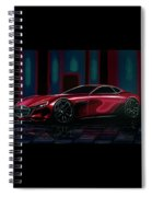 Mazda Rx Vision 2015 Painting Spiral Notebook