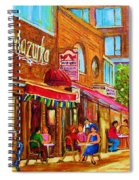Mazurka Cafe Spiral Notebook