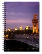 Bridge Of Alexandre IIi At Night Spiral Notebook