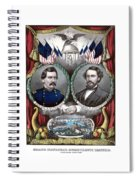 Mcclellan And Pendleton Campaign Poster Spiral Notebook