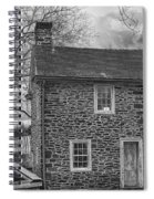 Mcconkey Ferry Inn Black And White Spiral Notebook