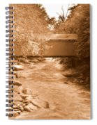 Mcconnells Mill Covered Bridge Sepia Spiral Notebook