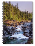 Mcdonald Creek Falls Spiral Notebook