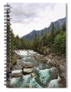 Mcdonald Falls - Glacier Spiral Notebook