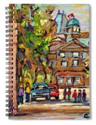 Mcgill Gates  Entrance Of Mcgill University Montreal Quebec Original Oil Painting Carole Spandau Spiral Notebook