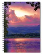 Mcintosh Lake Sunset Spiral Notebook