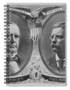 Mckinley And Roosevelt Election Poster Spiral Notebook