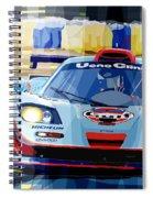 Mclaren Bmw F1 Gtr Gulf Team Davidoff Le Mans 1997 Spiral Notebook