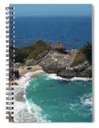 Mcway Falls In Big Sur Spiral Notebook