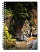 Mcway Falls Painting Spiral Notebook