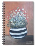 Meadow Flowers In Striped Vase  Spiral Notebook