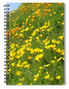 Meadow Hillside Poppy Flowers 8 Poppies Artwork Gifts Spiral Notebook