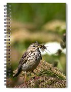 Meadow Pipit With Food Spiral Notebook