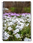 Meadow With Flowers At Botanic Garden In The Blue Mountains Spiral Notebook