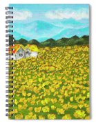 Meadow With Yellow Dandelions, Oil Painting Spiral Notebook