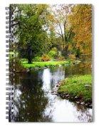 Meandering Creek In Autumn Spiral Notebook