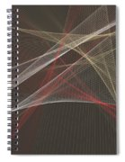 Mechanic Computer Graphic Line Pattern Spiral Notebook