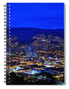 Medellin Colombia At Night Spiral Notebook