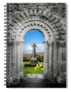 Medieval Arch And High Cross, County Clare, Ireland Spiral Notebook