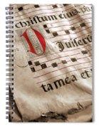 Medieval Choir Book Spiral Notebook