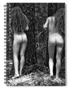 Medieval Forest Twins Spiral Notebook