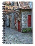 Medieval Lane In Tallinn Spiral Notebook