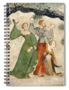 Medieval Snowball Fight Spiral Notebook